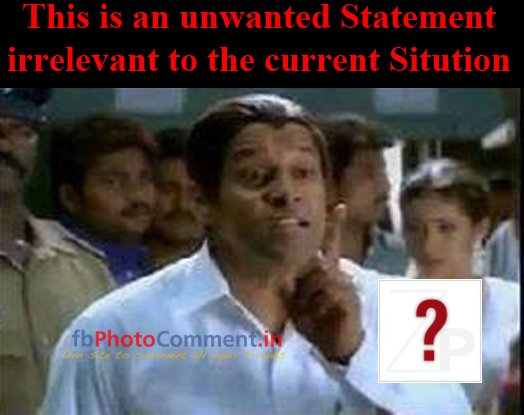 unwanted statement to the current sitution vikram comment