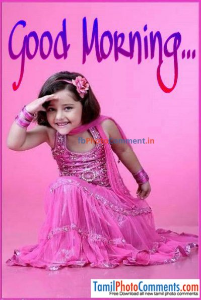 Good Morning Child Reactions Tamil Tamil Photo Comments Free