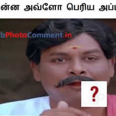 nee yena apataikara tamil photo comment